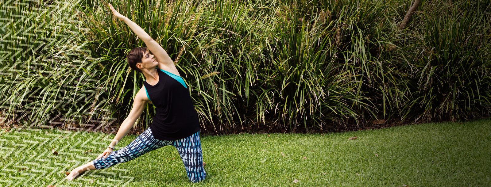 yoga pose; mobile yoga teacher; asana; gate pose; parighasana